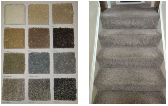 Firth Carpets - two photos of Bardsey range