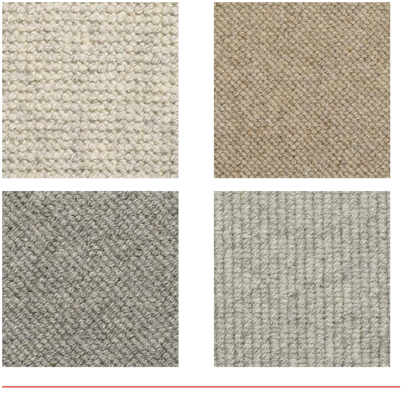 Firth Carpets - four samples of Ryedale range