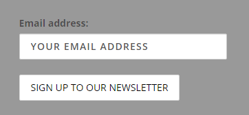 The Firth Carpets contact form to sign up for our monthly newsletter